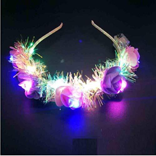 Corolla gloeiende LED gloeiende slinger hoofdband bruiloft partij verjaardag