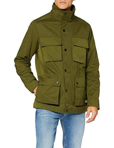 Scotch & Soda Mens 4 Pocket with Fabric Mix Jacket, Military Green 0154, S