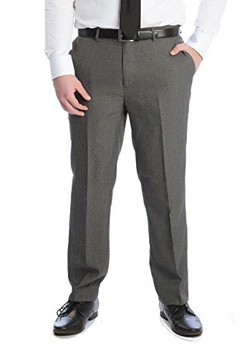 Victor Herren Anzughose mit Bundfalte, Grau, Gr. 30