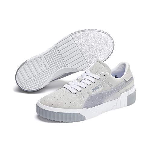 PUMA Damen Cali Patternmaster WN\'s Sneaker , Weiß (Puma White-Quarry 01) , 42 EU
