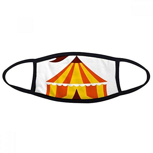 DIYthinker Amusement Park Tent Kleur Illustratie Mond Gezicht Anti-stof Masker Anti Koud Warm Wasbaar Katoen Gift