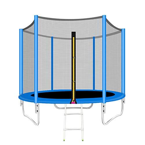 Huo Bedrooster, grote trampoline, trampoline met 244 cm diameter, ronde tuintrampoline met veiligheidsnet, ladder en gevoerde stang, veiligheidsafdekking