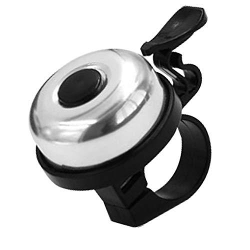2pcs Bell de la bici del manillar fuerte sonido de bici del manillar del anillo carretera de montaña Ciclismo de aleación de aluminio de alarma de anillos accesorios de bicicletas, Plata