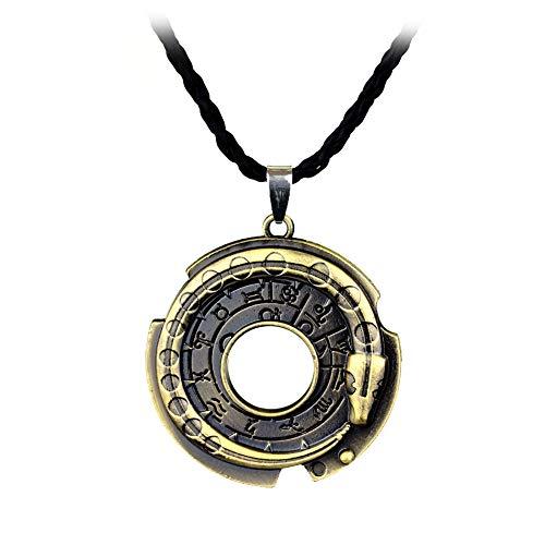 AMOYER Serpiente Runa Ronda De Cuero De La Cuerda De La Joyería Collares Y Colgantes Suerte Amuleto De Protección En El Cuello para Niñas