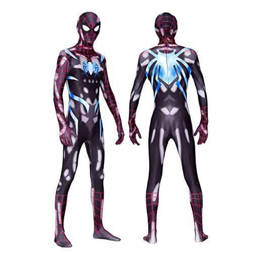 YUNMO Attrezzature Fun Spiderman Costume Body Stampa Digitale Cosplay Halloween War (Size : S)