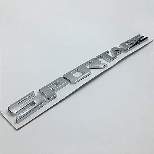 Adhesivo Decorativo con Letras con Logotipo 3D para Kia Sportage, Emblema del Maletero Trasero del Coche, Plateado