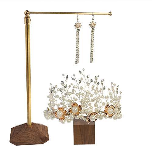 Topqueen bruidsdiadeem parels kroon met strass-steentjes, haarsieraad voor bruiloft, oorbellen, bruid, sieradenset