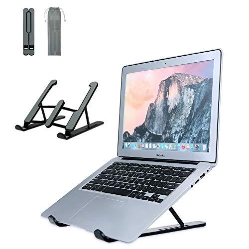 Infankey Supporto PC Portatile Ventilato Pieghevole per Computer Portatile, Laptop Stand con 6 Livelli Regolabili Compatibile con Tutti i Laptop e Tablet 10-17  , ABS+Silicone+Alluminio