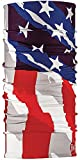 BUFF CoolNet UV+ Multifunctional Headwear and Face Mask, Bright Pattern Design, America, One Size