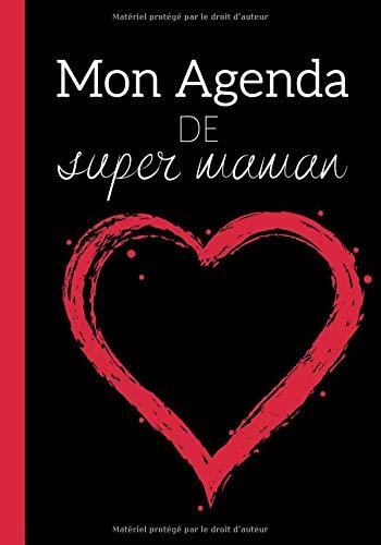 Mon agenda: Calendrier par semaines utile au quotidien - cadeau pour super maman | 60 semaines format 7*10 pouces