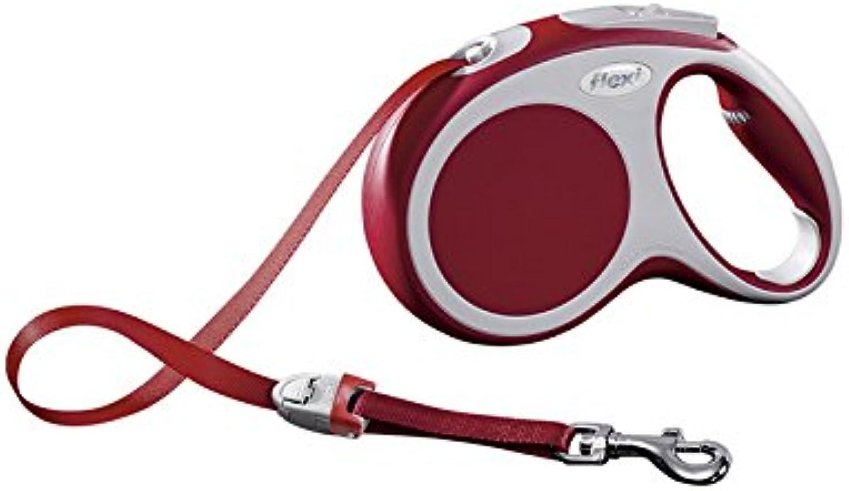 Flexi Vario Retractable Flexible Tape Dog Lead  Red  Medium  25kg  5m