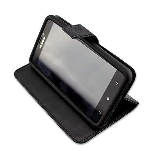 caseroxx Handy Hülle Tasche kompatibel mit Emporia SMART.2 Bookstyle-Hülle Wallet Hülle in schwarz