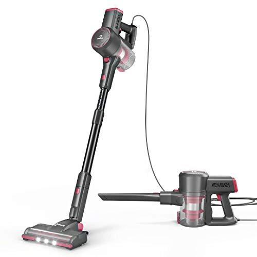NEQUARE Vacuum Cleaner, 20Kpa Stick Vacuum with Self-Standing, Dual-HEPA Filtration, LED Multi-Tasker Floor Head, Extra HEPA Filter, Handheld Vacuum for Hardwood, S181