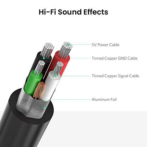 UGREEN Externe USB Soundkarte für Computer, PS5, PS4, USB Audio Stereo Adapter External Sound Card (Schwarz)