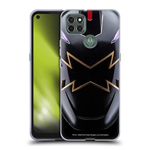Head Case Designs sous Licence Officielle Power Rangers Noir Dino Tonnerre Casque célèbre Coque en Gel Doux Compatible avec Motorola Moto G9 Power