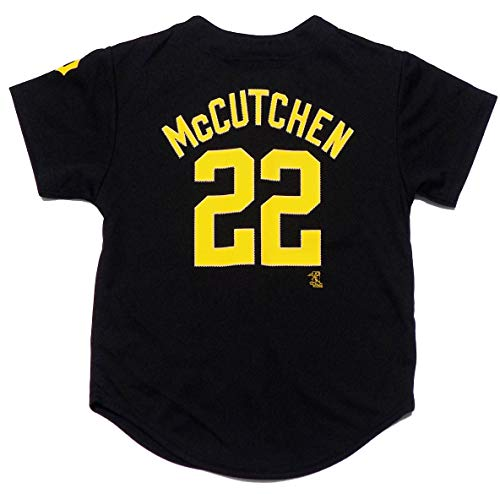 Outerstuff Andrew McCutchen Pittsburgh Pirates #22 Black Youth Player Fashion Jersey (X-Small 4/5)