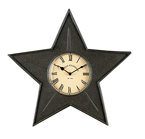 Park Designs Star Metal Clock - Black