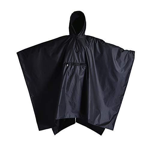 Rain Ponchos for Women - Black Rain Poncho - Waterproof Rain Gear for Women - Lightweight Travel Poncho