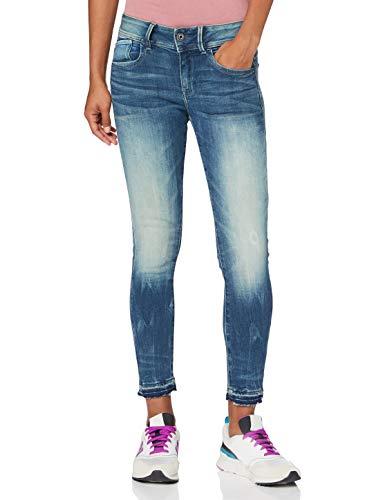 G-STAR RAW Damen Jeans Lynn Mid Waist Skinny, Antic Faded Baum Blue C296-B817, 24W / 28L