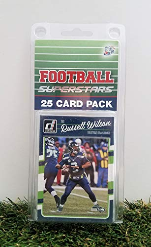 Seattle Seahawks- (25) Card Pack NFL Football Different Seahawk Superstars Starter Kit! Comes in Souvenir Case! Great Mix of Modern & Vintage Players for The Super Seahawks Fan! by 3bros