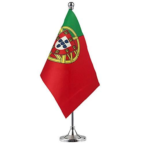 GentleGirl.USA Portugal Flag Portuguese Flag Table Flag,Desk Flag,Office Flag,International World Country Flags Banners,Festival Events Celebration,Office Decoration,Desk,Home Decoration