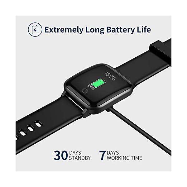 Smartwatch, Reloj Inteligente Impermeable IP68 con Monitor Sueño Pulsómetros Caloría Podómetro Operación con un Clic… 7