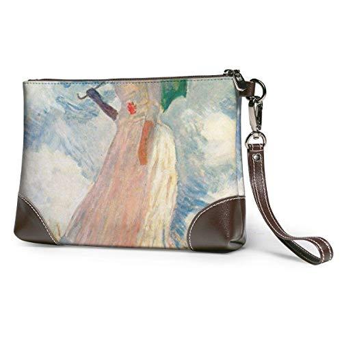 Bolsos de embrague para teléfono carteras para mujer con sombrilla de cuero pequeño bolso de mano