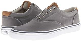 Sperry(スペリー) メンズ 男性用 シューズ 靴 スニーカー 運動靴 Striper CVO Salt-Washed Twill - Grey 10.5 M (D) [並行輸入品]