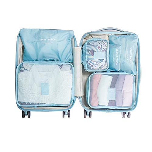 Bolsa de almacenamiento ropa interior de acabado bolsa de almacenamiento de viaje ropa interior zapatos de almacenamiento bolsa de almacenamiento bolsa de almacenamiento dispensador - azul claro