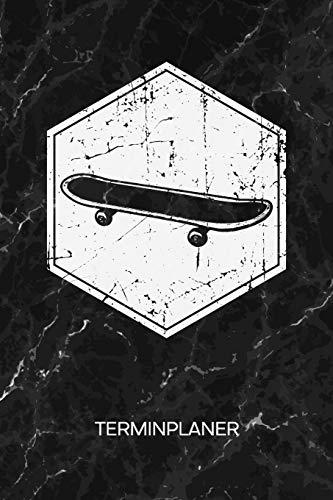TERMINPLANER: Skateboarding Liebhaber Kalender Oldschool Skateboarder Terminkalender - Vintage Skater Wochenplaner Retro Skateboard Wochenplanung Rollbrett Taschenkalender Skating To-Do Liste Termine