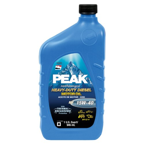 peak p4mj576 sae 15w 40 cj 4 heavy duty motor oil 1