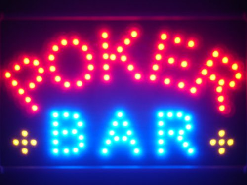 ADVPRO led076-r Poker Bar Room Casino LED Neon Sign WhiteBoard Barlicht Neonlicht Lichtwerbung