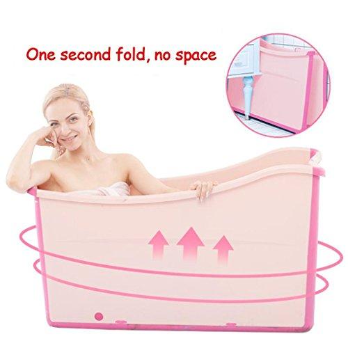 Bañera plegable para adultos, bañera para niños en el hogar, bañera engrosada,...