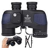 HUTACT Prismáticos Compactos 10x50 Binoculares Potentes para Adultos para Observación de Aves, Senderismo, Camping, Lente BAK4 Prism FMC, con Correa de arnés