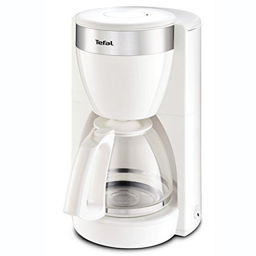 Tefal CM1801 Deflini Plus Glas-Kaffeemaschine mit Edelstahlelementen, 10-15 Tassen, 1000 W, weiß