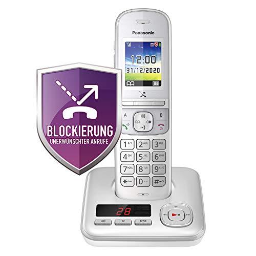 Panasonic KX-TGH720GG Schnurlostelefon mit Anrufbeantworter (DECT Telefon, strahlungsarm, Farbdisplay, Anrufsperre, Freisprechen) perl-Silber