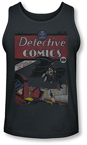 Dc - Detective # 27 affligé Tank-Top pour hommes, X-Large, Charcoal