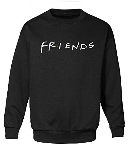 Decrum Black Mens Friends Sweatshirt - TV Show How You Doin' Merchandise Jumper | Friends, S