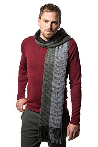 Mens Scarf, Knit Striped Scarf, Winter Fashion Scarf In An Elegant Gift Box