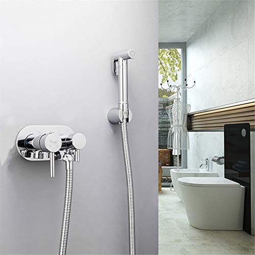 HNBMC Bidets Hygienic Shower Wandmontage Badezimmer Bidet Mixer Warm- und Kaltdusche WC Spray Kit Badezimmer Bidet Spray