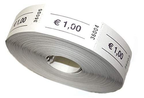 Bonrolle Euro 1,00 weiß - 1000 perforierte Abrisse