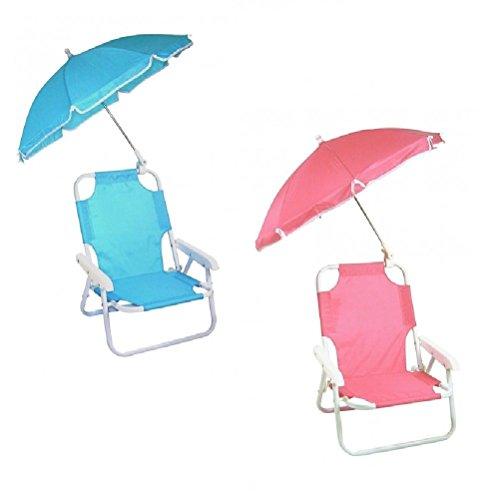 Fair Sedia con Ombrello per Bambini Protezione Raggi Solari Pieghevole Portatile Giardino Spiaggia