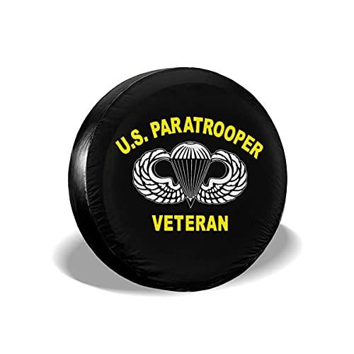 Hokdny Cubierta DE LA Rueda Paracaidista Estadounidense 82 División Aerotransportada Universal Wheel Trims Accessories for Vehicles, Trailers, Motorhomes, SUV