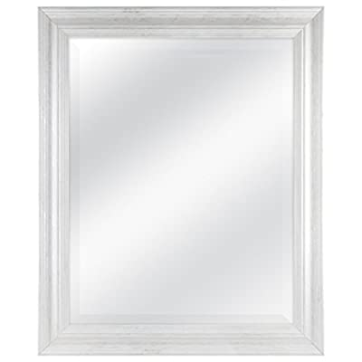 MCS 22 by 28 inch Scoop Mirror, 27.5 by 33.5 inch Outside Dimension, White Wash Finish 20548, 27.5 x 33.5 Inch - The 3 inch wide frame has a white washed woodgrain finish Overall Measurements: 27. 5 Inches x 33. 5 Inches Reflection Measurements: 22 Inches x 28 Inches - mirrors-bedroom-decor, bedroom-decor, bedroom - 41CMkHmMkmL. SS400  -