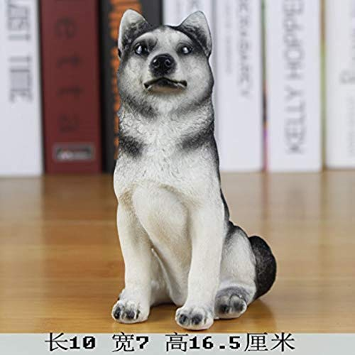 OYQQ Sculptures Ornaments Figurine,Dog Model Simulation Dog Famous Dog Decorative Dog Home Accessories Furnishings Lucky Study Resin Crafts