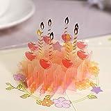 Paper Spiritz 3D クリスタルポップアップ ケーキ 誕生日カード グリーティングカード バースデーカード メッセージカード