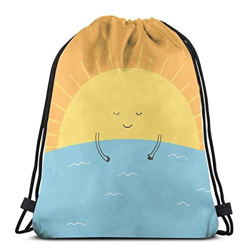 Good Morning Sunshine! Mochila con cordón para el hombro, mochila para la escuela, gimnasio, deporte, ligera, KBQ