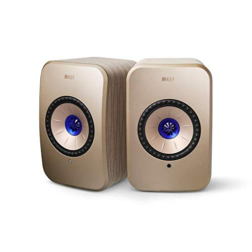 KEF LSX Soundwave Edition, WLAN Lautsprecher, Gold, Aktivlautsprecher | Airplay 2 | Musikstreaming | Multiroom | Bluetooth | Spotify | Tidal | Roon