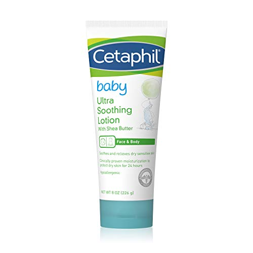 Cetaphil Baby Ultra Soothing Lotion with Shea Butter   Moisturize and Soothe Dry Skin 8 oz
