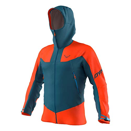 DYNAFIT M Radical 2 Gore-Tex Jacket Colorblock-Blau-Orange, Herren Gore-Tex Regenjacke, Größe S - Farbe Dawn